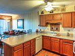 Prepare homemade meals utilizing the essential cooking appliances and ample counter space.