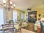 Lovely French doors lead out to the expansive private lanai