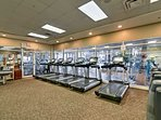 Go for a quick run on one of the treadmills.