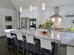 Here's the beautiful kitchen.