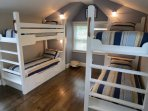 In another upstairs suite is this great bunk room.