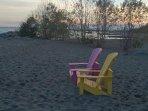 Balmy Beach, a few minutes walk