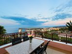 Veranda with spectacular view of the sea and Rethymno
