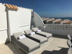 Stunning Roof Terrace with wonderful views of the sea, natural park and Peniscola castle.
