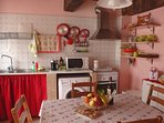 Charming country kitchen with a terrace just outside