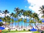 Centre de villégiature sur site avec plage, base nautique, restaurants, bar, boutiques