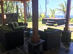 Hale Mar's new poolside lanai, like an outdoor living room!