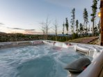 Soak in the views from the private hot tub