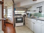 Make use of this well-equipped kitchen.