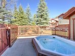Soak your sore skiing muscles in one of the 2 outdoor hot tubs!