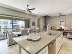 Beautiful open floor plan on main level with large multi sliding arcadia doors to the balcony which adds additional...