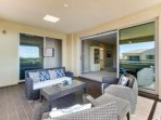 Upstairs terrace just off the master bedroom with plenty of seating to relax and enjoy the views!