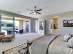 Master bedroom has private bathroom with awesome terrace!