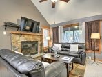 Utilize the wood-burning stone fireplace during the chilly winter months.