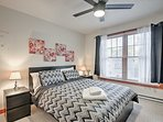 Enjoy peaceful nights on the queen bed in the first bedroom.
