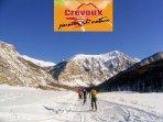 Crévoux-La Chalp (à 11Km de la maison): idéal pour ski de fond, raquettes, dans un cadre magnifique
