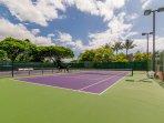 Tennis courts at Papakea Resort