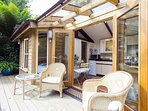 The large deck area provides the perfect place to sit and relax
