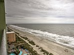 Enjoy a bird's eye view from the top floor overlooking the on-site pools and Myrtle Beach just below!