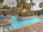Lounge in the lazy river, or take a dip in one of the 10 on-site pools!