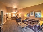 The well-appointed interior provides 4 guests with all the comforts of home.