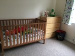 Bedroom 4 - nursery with a cot and child's bed