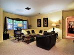 Large living room is a very relaxing space.