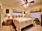 Fully furnished master bedroom.