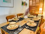 Charming dining space with seating for six