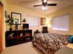 Comfortable guest bedroom.