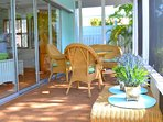 Screen porch is a fantastic place to relax