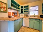Kitchen is central to the cottage