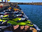 Jet Skis for rent at Coralia Beach