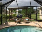 Plenty of fun in the sun with the pool loungers and pergola!