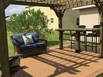 Enjoy the new pergola in the backyard!