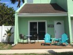 Relax on the front porch with the view of nature at Fort Pierce Inlet State Park across A1A