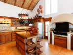 Palapa Great room with kitchen/DR/LR/ocean views