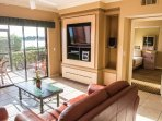 Living Room with Screen in Balcony