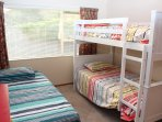 3 king single beds and 1 single trundler