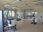 Spacious fitness room