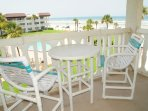Enjoy breakfast on the deck!