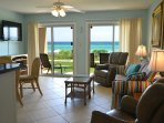 Walk-out to the beach and enjoy the view from open living space!