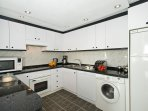 Spaciously modern & fully equipped kitchen with granite work tops. Some cleaning products provided