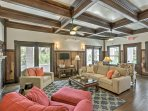 Find a cozy respite underneath the wood beams and original 1900's architecture.