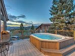 Soak your cares away in the community hot tub.