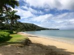 HALE KAHAKAI BEACH COTTAGE IS NESTLED AMONGST LARGE ESTATES ON PORTLOCK BEACH