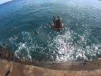 JUMPING OFF OF CHINA WALLS AT PORTLOCK POINT