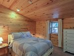 Sleep easy in this cozy full bed.