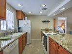 Use  the fully equipped kitchen to make your favorite meals.
