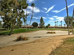 Golfers, be sure to pack your clubs and play a few rounds on the resort course.